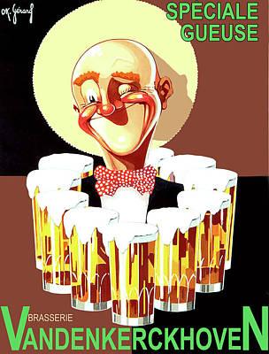 Vintage Beer Advertisement Art Print