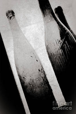 Art Print featuring the photograph Vintage Beer Bottles. by Andrey  Godyaykin