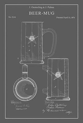 Digital Art - Vintage Beer Mug by Vintage Pix