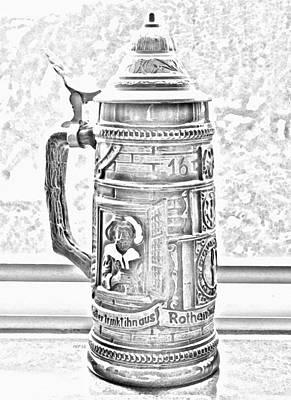 Oktoberfest Digital Art - Vintage Beer Stein by Phil Perkins