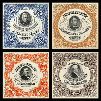 Vintage Beer Taxation Stamps  Art Print by Jon Neidert