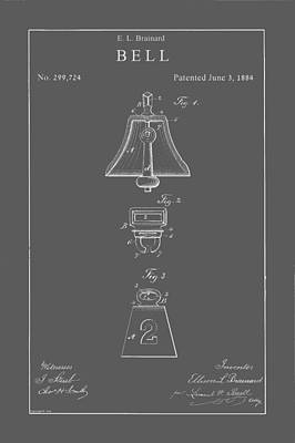 Drawing - Vintage Bell Patent by Vintage Pix