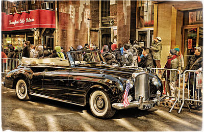 Photograph - Vintage Bentley Convertible by Mike Martin