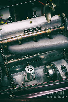 Photograph - Vintage Bentley Engine by Tim Gainey