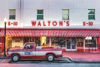 Photograph - Vintage Bentonville - Sam Walton Ford F-150 And Walmart Museum by Gregory Ballos