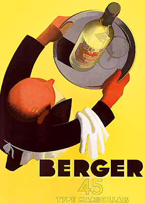 Digital Art - Vintage Berger Wine Advert - Circa 1935 by Marlene Watson