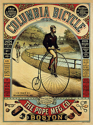 Photograph - Vintage Bicycle Ad by Andrew Fare