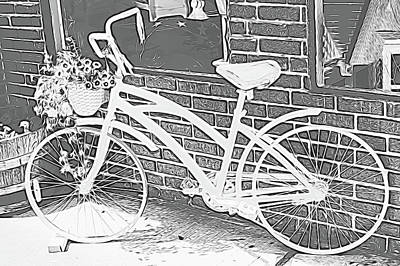 Photograph - Vintage Bicycle  by Cathy Anderson