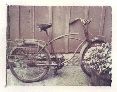 Vintage Bicycle Art Print by Jane Linders