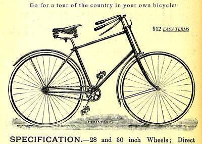 Drawing - Vintage Bicycle by Vintage Pix