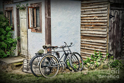 Old Country Roads Photograph - Vintage Bicycles The Journey by Paul Ward