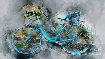 Mixed Media - Vintage Bike by Ian Mitchell