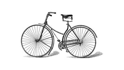 Art Print featuring the digital art Vintage Bike by ReInVintaged