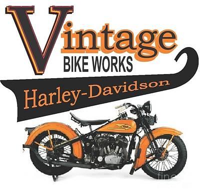 Vintage Bike Works 1934 Harley Davidson Vld Art Print