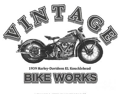 Vintage Bike Works 1939 Harley Davidson El Knucklehead Art Print
