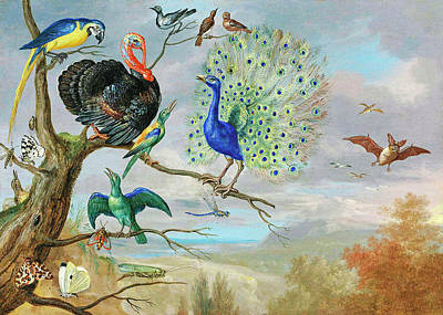Photograph - Vintage Birds Painting by Munir Alawi