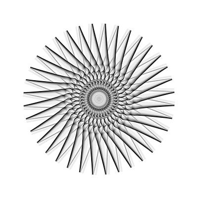 Photograph -  Vintage Black And White Circle by Angela Devaney