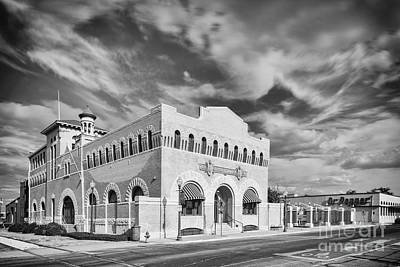 Photograph - Vintage Black And White Photograph Of The Dr. Pepper Museum In Downtown Waco - Central Texas by Silvio Ligutti