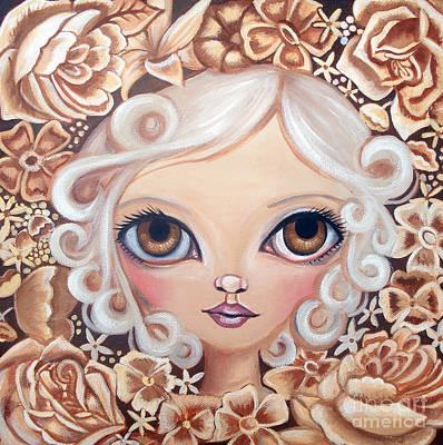 Pop Surrealism Painting - Vintage Blooms by Jaz Higgins