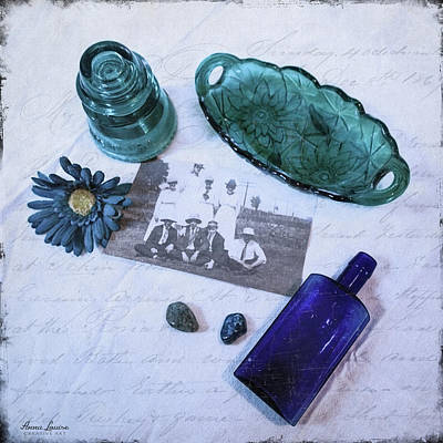 Photograph - Vintage Blue by Anna Louise