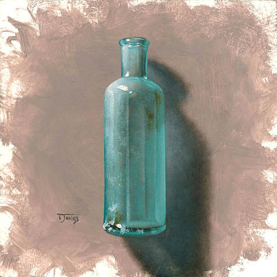 Vintage Blue Bottle Art Print by Timothy Jones