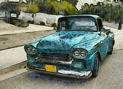 Photograph - Vintage Blue Chevrolet Pickup by Floyd Snyder