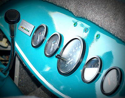 Photograph - Vintage Blue Dashboard by Kimberly-Ann Talbert