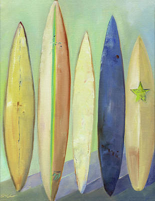 Painting - Vintage Boards by Shannon Celia