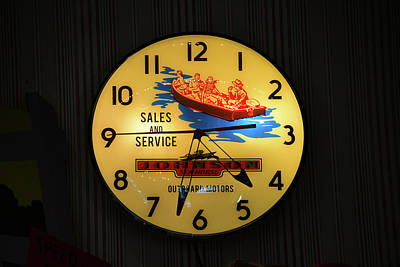 Photograph - Vintage Boating Clock by David Lee Thompson