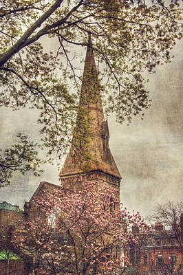 Photograph - Vintage Boston Church - Back Bay by Joann Vitali