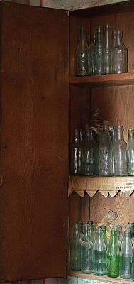 Vintage Bottles Case Art Print by Felicia Tica