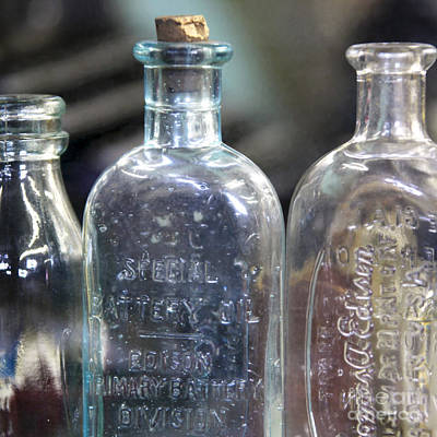 Stopper Digital Art - Vintage Bottles by Glennis Siverson
