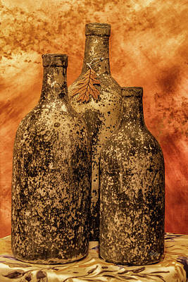 Photograph - Vintage Bottles by Pamela Williams