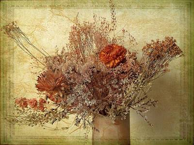 Antique Flowers Vase Wall Art - Photograph - Vintage Bouquet by Jessica Jenney