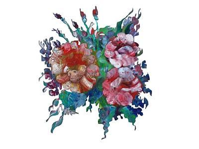 Wall Art - Painting - Vintage Bouquet by Larissa Pirogovski