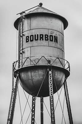 Photograph - Vintage Bourbon Black And White Wall Art by Gregory Ballos