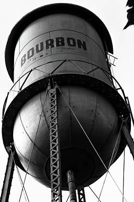 Photograph - Vintage Bourbon Tower Art Black And White by Gregory Ballos