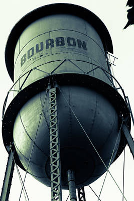 Photograph - Vintage Bourbon Tower Art Monochrome by Gregory Ballos