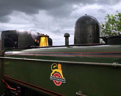 Railway Station Photograph - Vintage British Rail Steam Train by Gill Billington