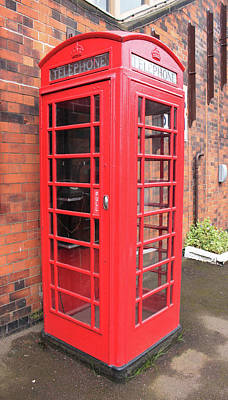 Photograph - Vintage British Red Phone Box  by Tom Conway
