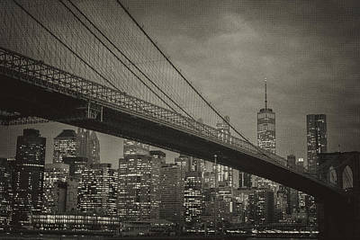 Photograph - Vintage Brooklyn Bridge by Jesse MacDonald