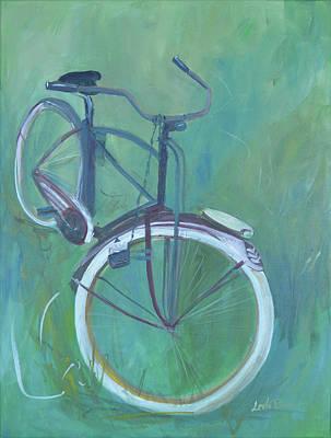 Painting - Vintage Brown Bike by Lee Bauman