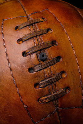 Photograph - Vintage Brown Soccer Ball by Garry Gay