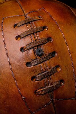 Vintage Brown Soccer Ball Art Print