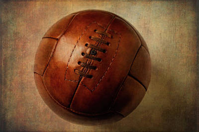 Photograph - Vintage Brown Soccer Football by Garry Gay