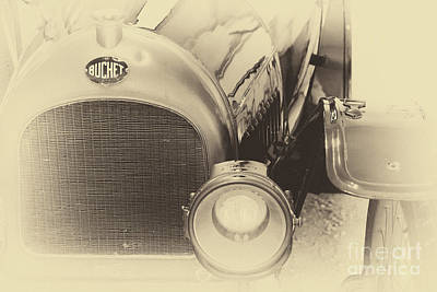 Photograph - Vintage Buchet Auto, Hood And Lamp by Vyacheslav Isaev