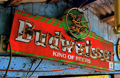 Photograph - Vintage Bud Sign by David Lee Thompson