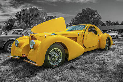 Photograph - Vintage Bugatti by Tony Baca