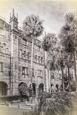Photograph - Vintage Building With Palm by Lewis Mann