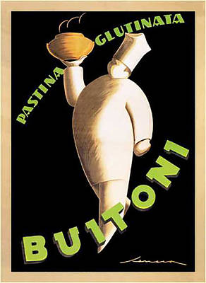 Digital Art - Vintage Buitoni Pasta Advert - Circa 1920's by Marlene Watson